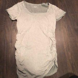 EUC Maternity t shirt; sage burnout color